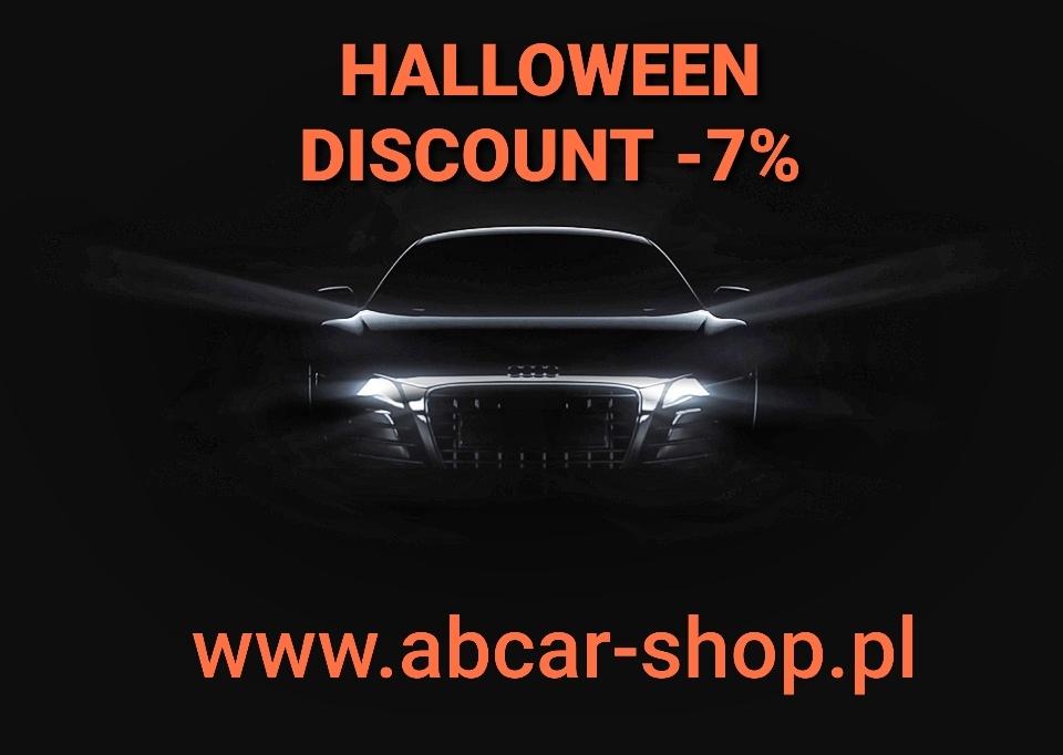 """W sklepie internetowym www.acbar otrzymasz zniżkę na zakup kosmetyków samochodowych z hasłem """"helloween -7%"""""""