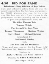 TVTimes for the Midlands, w/c 16 November 1958