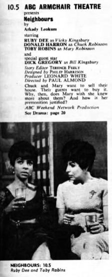 Neighbours in TVWorld w/c 15 January 1966
