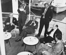 Cecil Bernstein (Granada), Howard Thomas (ABC), Tom Brownrigg (A-R), Lew Grade (ATV), Paul Adorian (A-R)