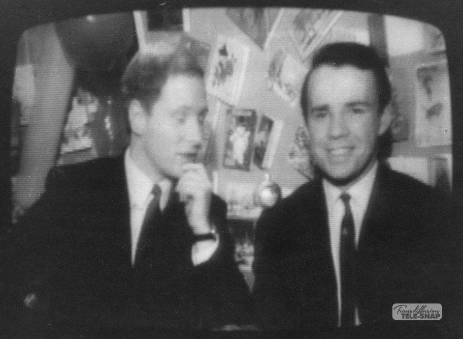 David Hamilton and John Duncanson at Xmas on ABC North 1967
