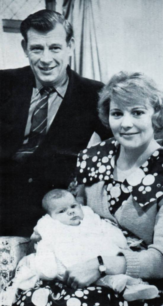 REG EARP, Electrician, Didsbury, with daughter Kathleen and grand-daughter Beverley.
