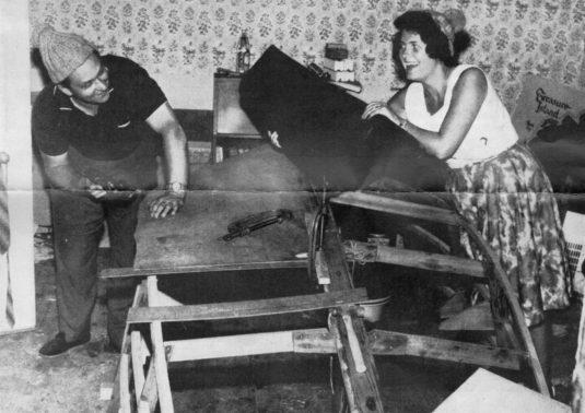 Telecine Engineer JOHN RANSON and wife Myra, Didsbury