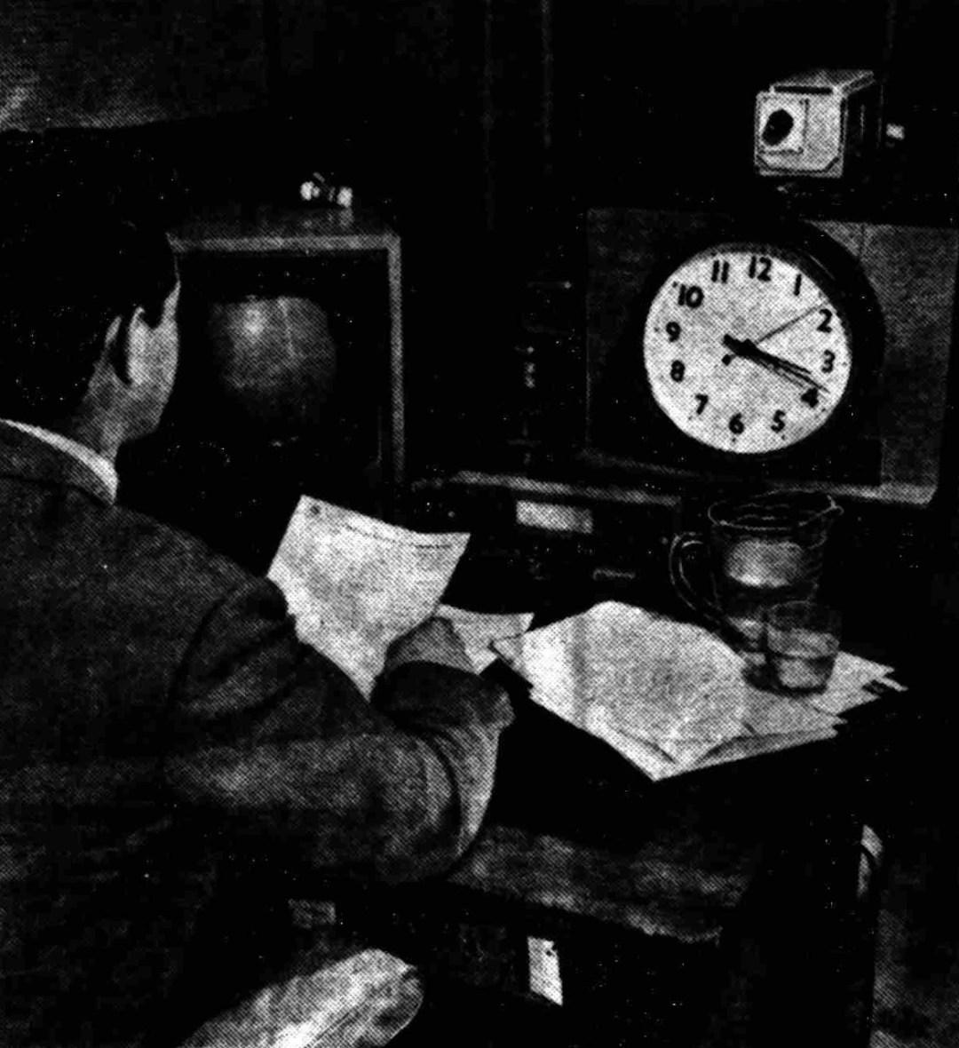 John Edmunds' view from the announcer's desk