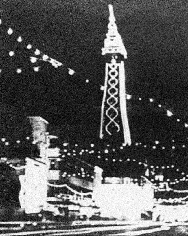 Blackpool lights at night