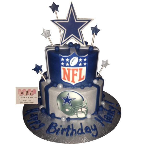 1627 2 Layer Dallas Cowboy Birthday Cake Abc Cake Shop Bakery