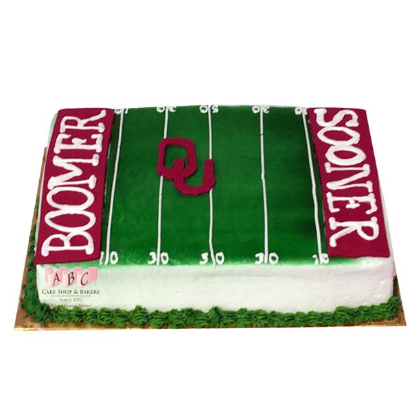 Oklahoma Sooner Football Cake