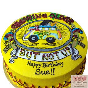 2400 Getting Older Over The Hill Groovy Birthday Cake Abc Cake Shop Bakery