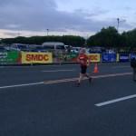 Gudni completing her 21 kilometer run