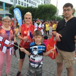 Hanna, Paetur and Jorgen with Gudni after the run