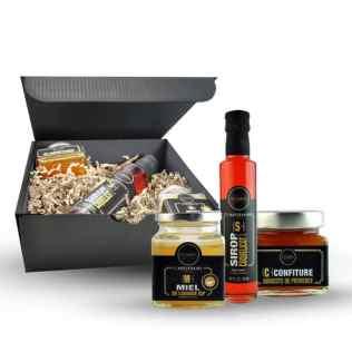 Coffret cadeau miel sirop confiture