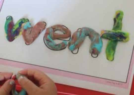 Play Doh Sight Word Pre Writing Activity