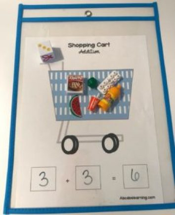 Shopping Cart Addition Game For Kids