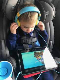 ipad with headphones travel accessories for kids
