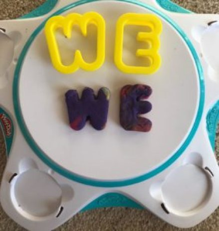 play-doh letter cut out toys