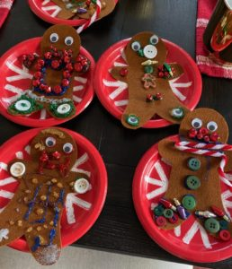 kids christmas gingerbread making activity