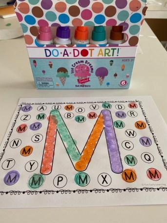 do a dot letter recognition activity