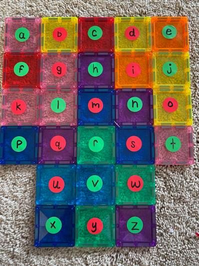 alphabetical order magnet tile