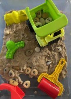construction alphabet find activity