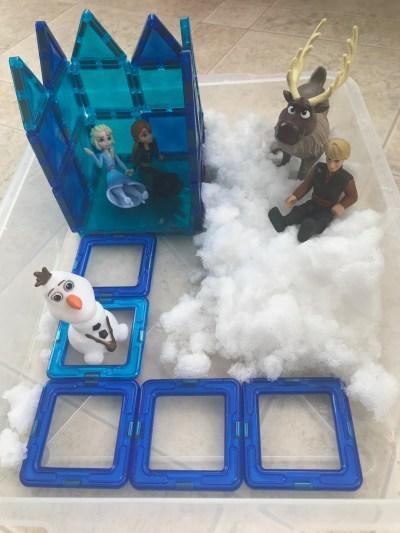 disney frozen sensory bin