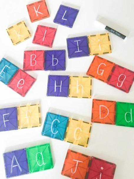 magnet block alphabet match