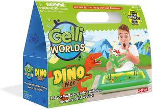 gelli world dinosaur sensory bin