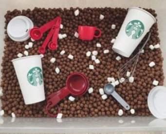 hot cocoa sensory bin