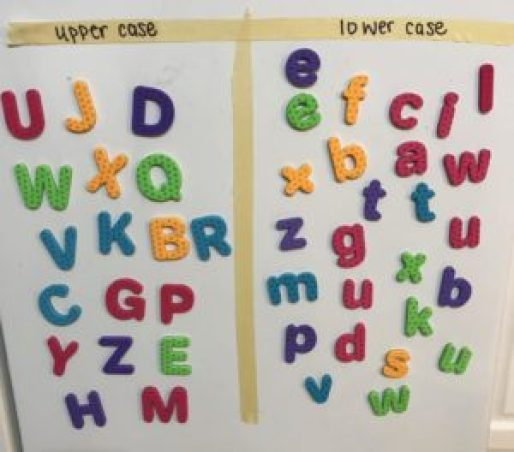 magnetic letters upper and lower case activity