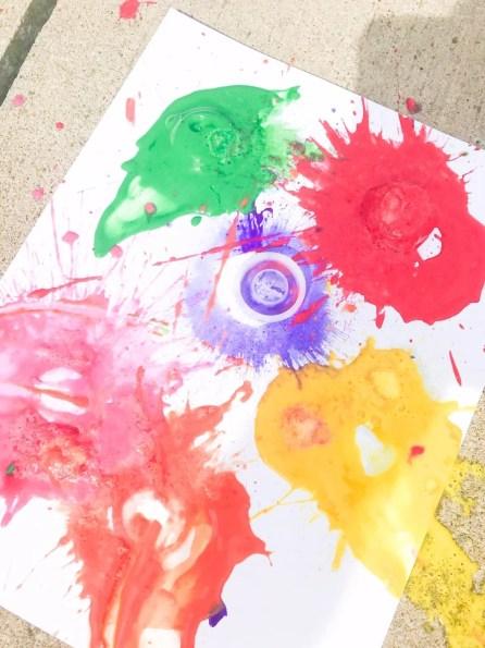 exploding paint experiment