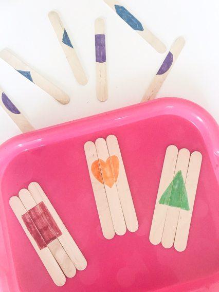 shape puzzles popsicle sticks