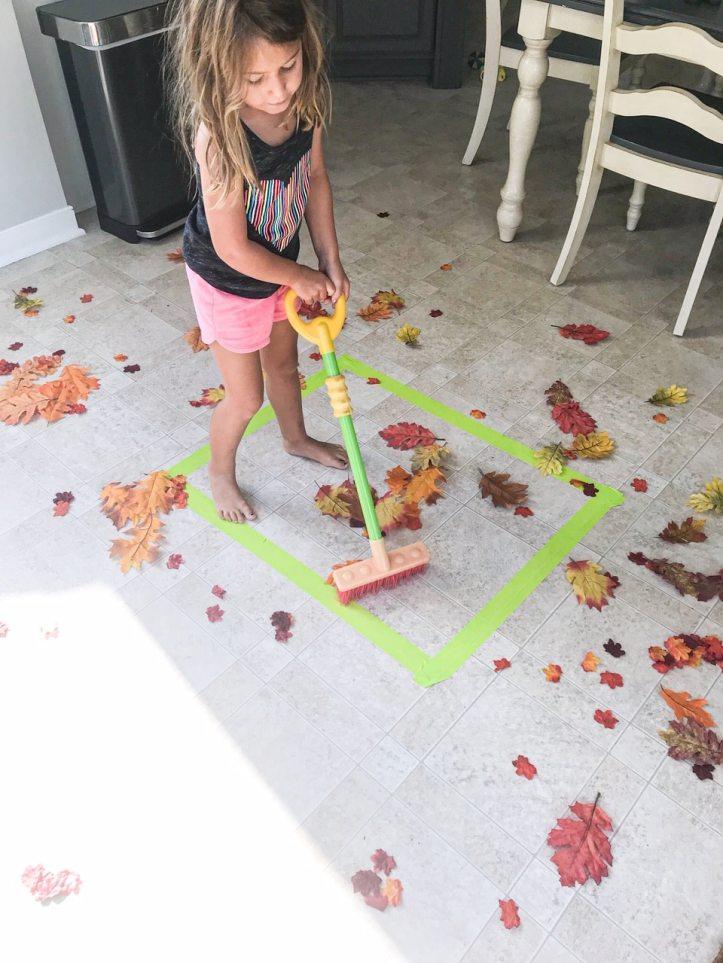 fall leaf sweep