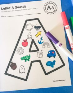 beginning letter A activity