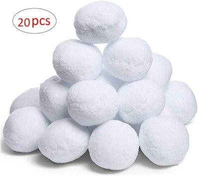 fake snow balls
