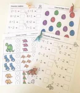 dinosaur math learning