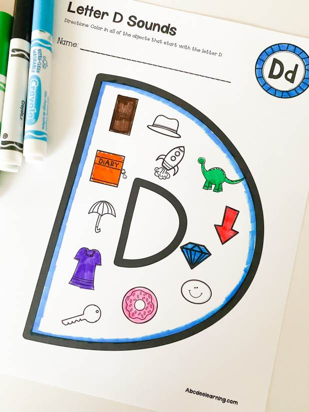 beginning sounds letter d