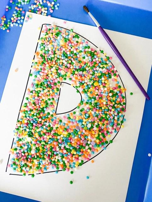 letter sprinkle sweep