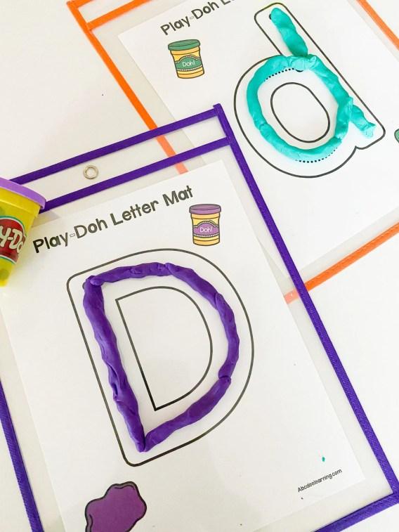 play doh letter mats