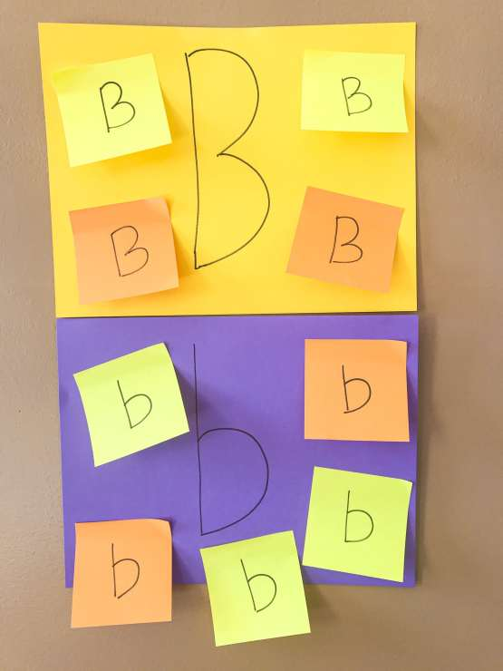 post it search letter b activity