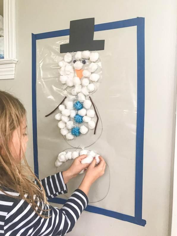 sticky wall snowman