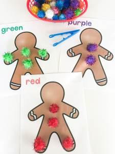 color sort gingerbread mats