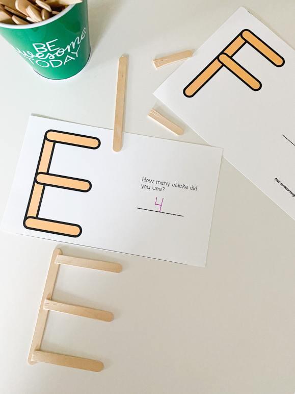 popsicle letter E