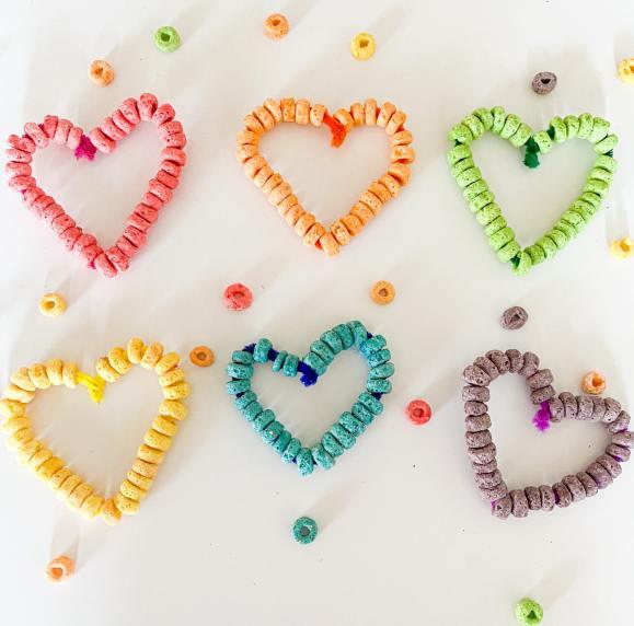 fruit loop threading hearts