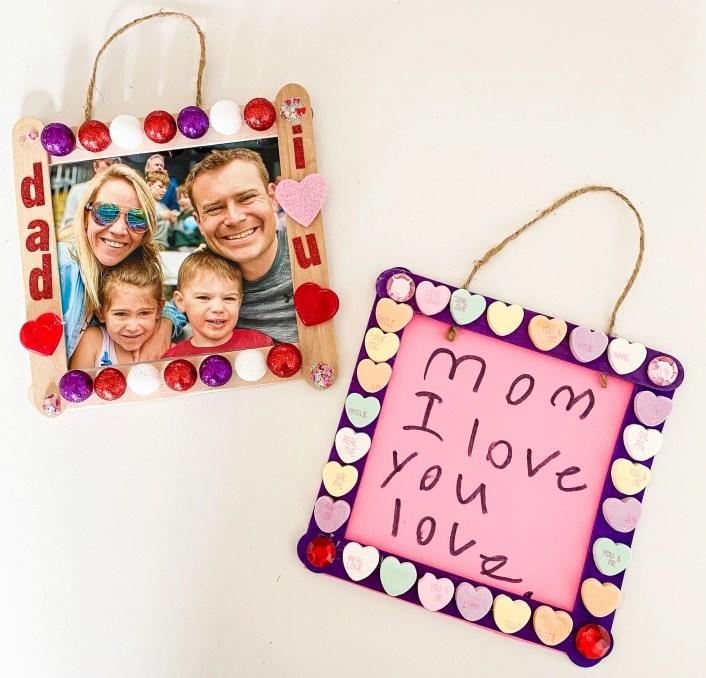 diy heart photo frames