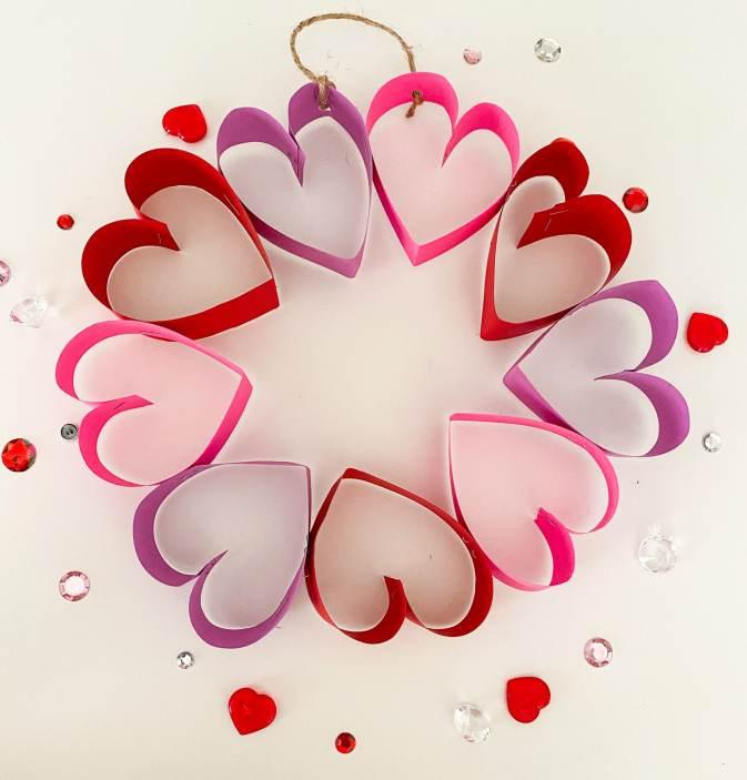 heart stapled wreath