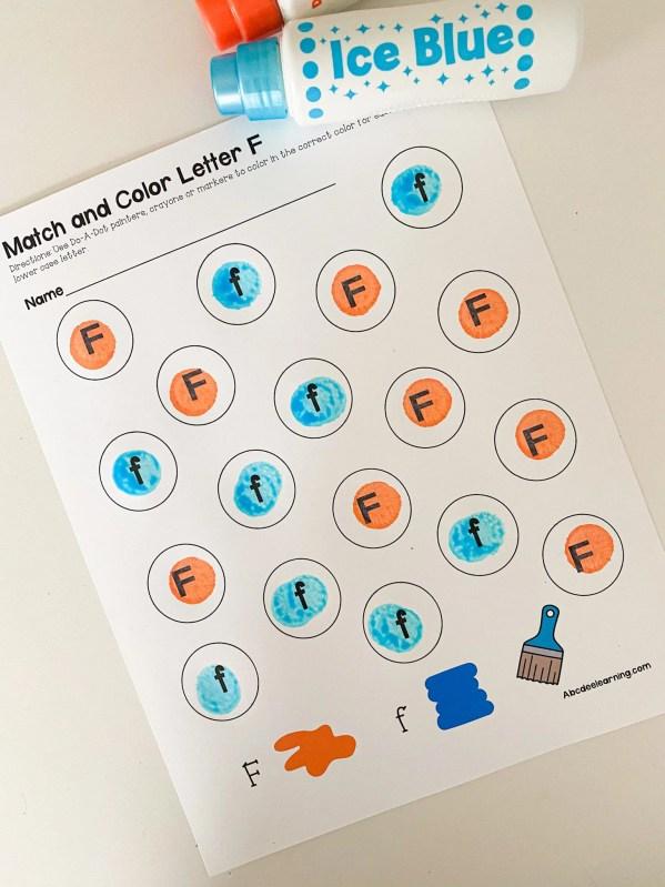 letter Do-A-Dot