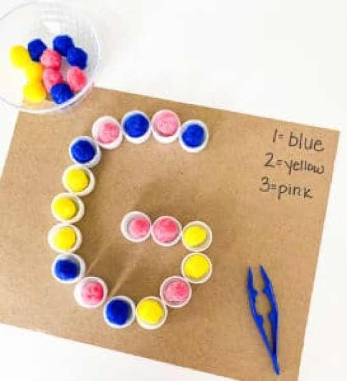 color coding letter fine motor activity