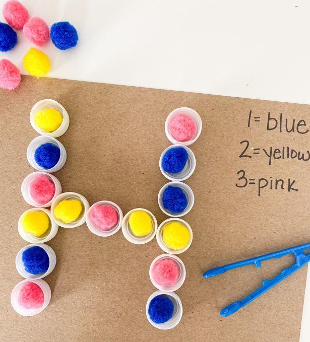 color coding letter H