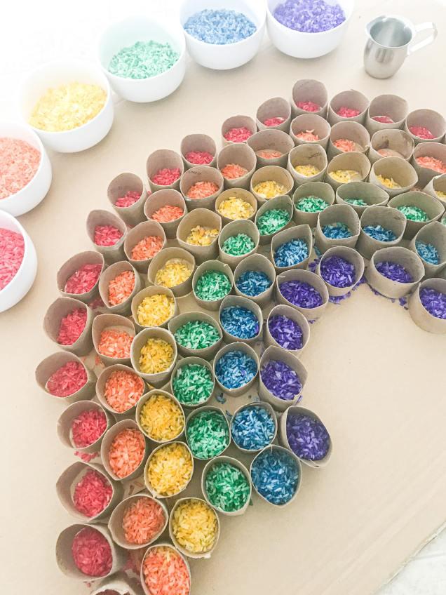 recycled rainbow activity