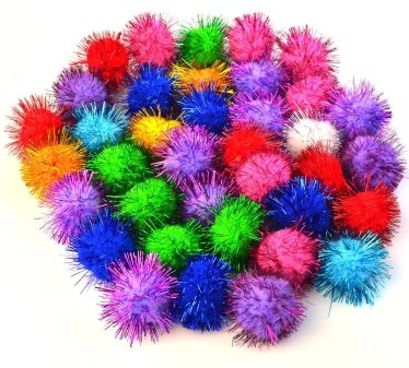 colored poms
