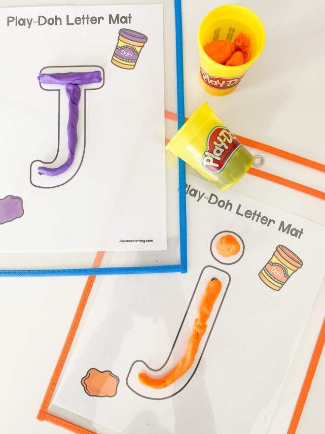 letter j play doh mats